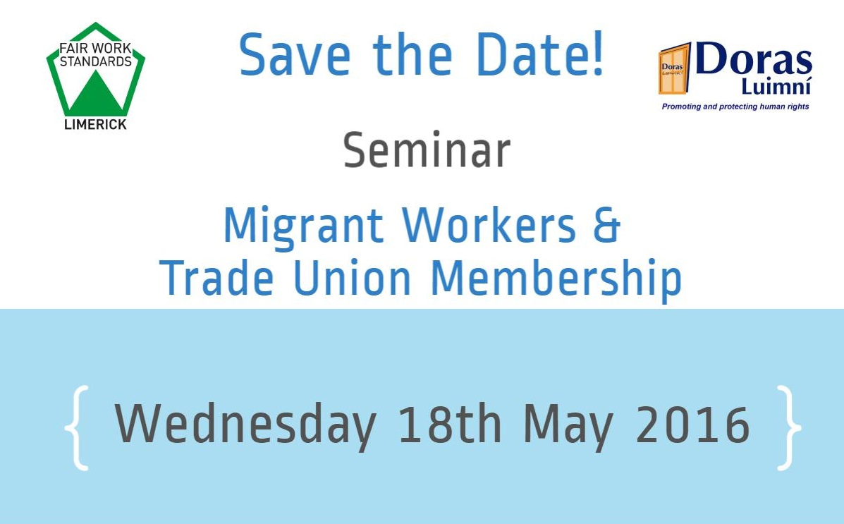 Save the Date – 18th May 2016